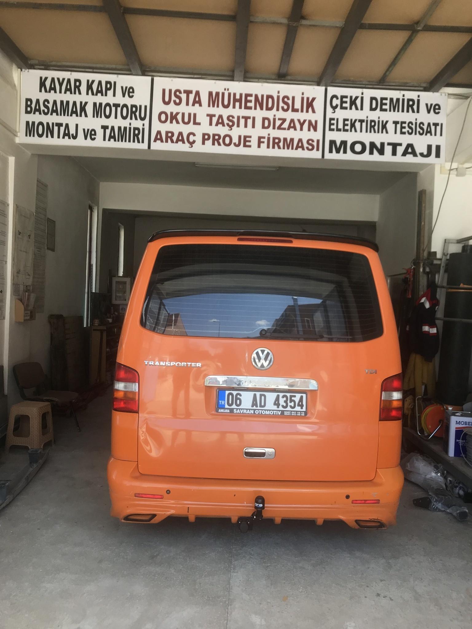 VOLSWAGEN TRANSPORTER /Çeki demiri MONTAJI+ARAÇ PROJE Ankara