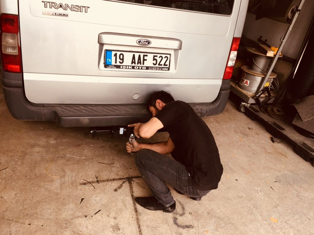 FORD TRANSİT ARACA çeki demiri takma montesi +araç proje Ankara