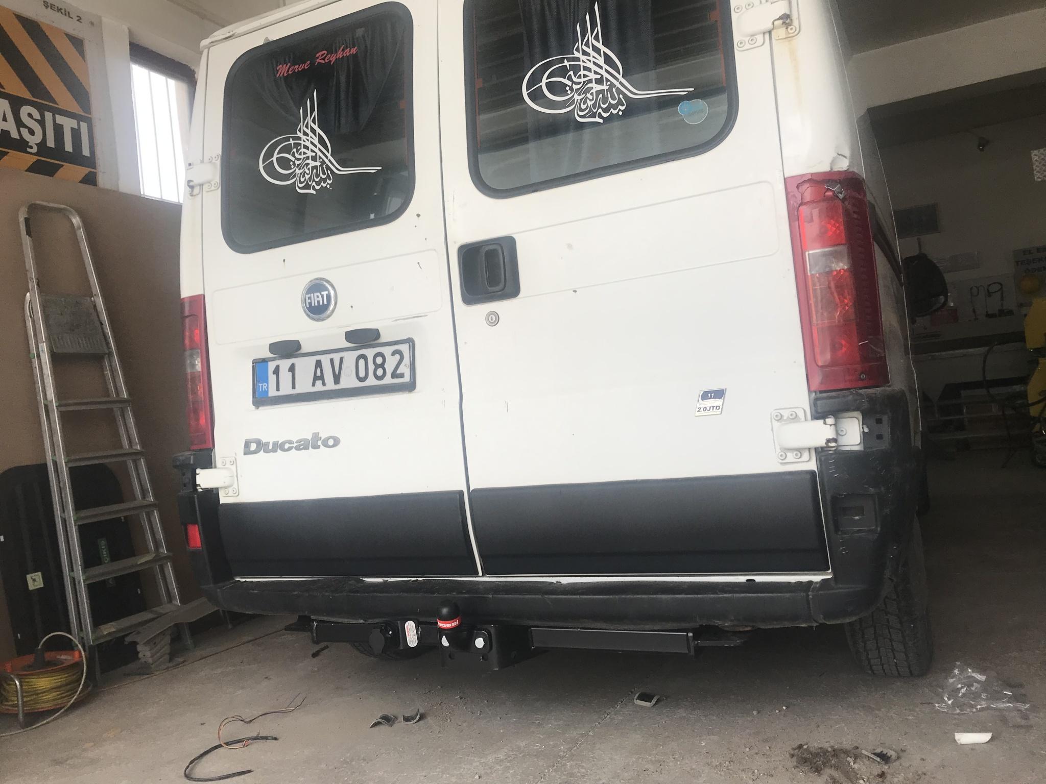 Fiat ducato çeki demiri takma montajı Ankara
