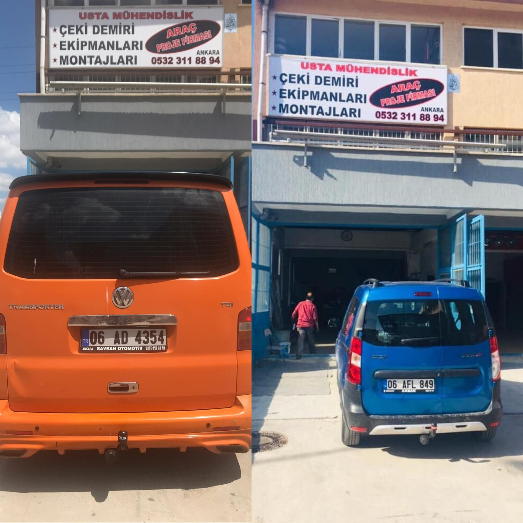 VOLKSWAGEN Transporter T5-T6 *ÇEKİ DEMİRİ MONTAJI +ARAÇ PROJE FİRMASI ANKARA